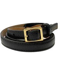 Rochas Leather Belt - Black