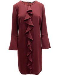 Seventy Straight Cut Viscose Dress - Red