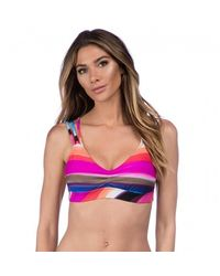 La Blanca Over The Horizon Multi Strap Bralette Bikini Top - Purple