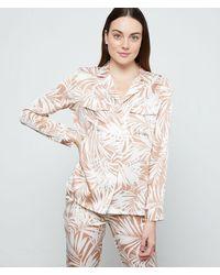 Etam Camisa pijama estampado hojas - Neutro