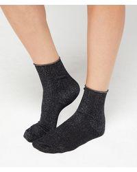 Etam Calcetines fibras metalizadas - Negro