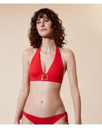 Etam Sujetador bikini triángulo, copas extraíbles - Rojo