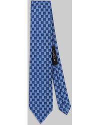 Etro - Cravate En Soie Jacquard Avec Logo - Lyst