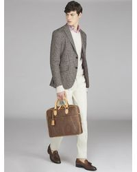 Etro Paisley Briefcase With Crossbody Strap - Brown