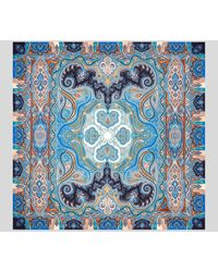 Etro Chal De Cachemira Y Seda Con Estampado Paisley - Azul