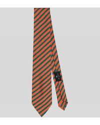 Etro Corbata Con Motivo De Rayas - Naranja