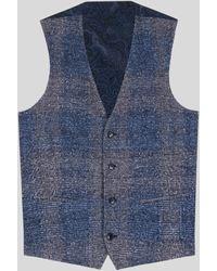 Etro Gilet Sartoriale Con Motivi Check - Blu