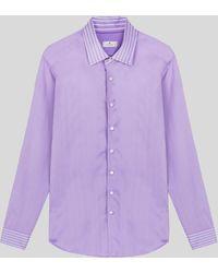 Etro Chemise En Coton Satinée - Violet