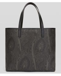 Etro Paisley Shoppingtasche - Schwarz
