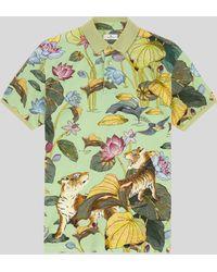 Etro Poloshirt Mit Tiger- Und Seerosenprint - Grün