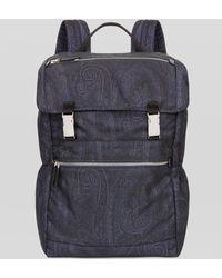 Etro Paisley Backpack - Blue