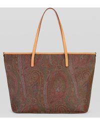Etro Bolso Shopping Con Diseños Paisley - Rojo