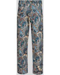Etro Paisley Jeans - Blue