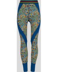 Etro Leggins De Punto Paisley Florales - Azul
