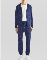 Etro Pantalones De Cachemira Con Estampado Paisley - Azul