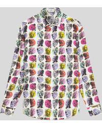 Etro Camisa De Seda Estampado Pop Art - Metálico