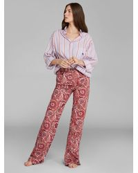Etro Flared Jeans With Paisley Patterns