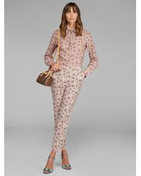 Etro Floral Paisley Pants - Pink