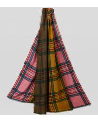 Etro Wollschal Mit Farbverlauf-tartanmuster - Pink