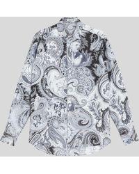 Etro Chemise En Soie Imprimé Paisley Décoratif - Blanc