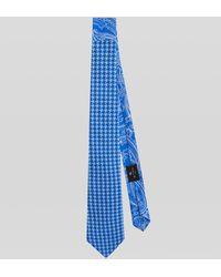 Etro Cravatta Due Tessuti Paisley - Blu