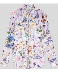 Etro Camisa Con Estampado Floral - Morado