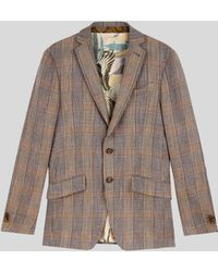 Etro Tailored Prince Of Wales Check Jacket - Natural