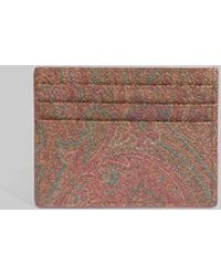 Etro Paisley Credit Card Holder - Brown