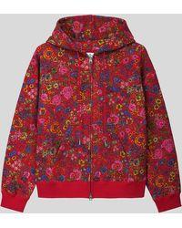 Etro Sudadera De Algodón Con Estampado Floral - Rojo