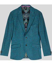 Etro Jersey Tailored Jacket - Blue