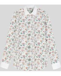 Etro Camisa Floral Ramage - Metálico