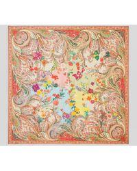Etro Chal De Lana Y Seda Paisley Floral - Multicolor