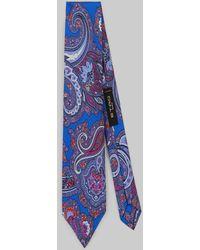 Etro Cravatta Paisley Floreale - Blu