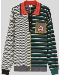 Etro Polo Patchwork En Maille Avec Pegaso - Multicolore