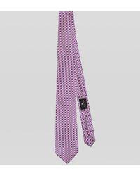Etro Cravate En Soie Motif Géométrique - Rose