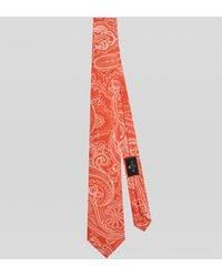 Etro Corbata De Seda Paisley - Naranja