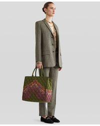 Etro - Bolso Shopping Matelassé Con Estampado Paisley - Lyst