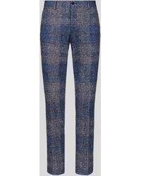 Etro Pantalon Sartorial En Jersey Carreaux - Bleu