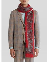 Etro Cashmere Paisley Scarf - Red