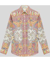 Etro - Camisa Con Motivos Paisley Florales - Lyst
