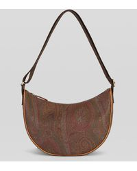 Etro Paisley Hobo Bag With Clutch - Red