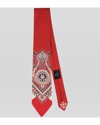 Etro Corbata De Seda Estampado Paisley Bandana - Rojo