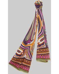 Etro Sciarpa Con Motivi Paisley - Multicolore