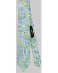 Etro Cravatta In Seta Con Motivi Paisley - Verde