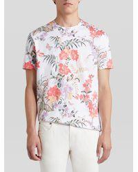 Etro - Camiseta De Algodón Con Estampado Floral Y Mariposas - Lyst