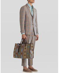 Etro Carpet Print Shopping Bag - Multicolor