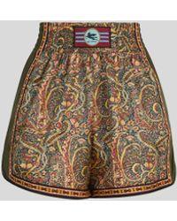 Etro Shorts Mit Floralem Print Und Pegaso - Gelb