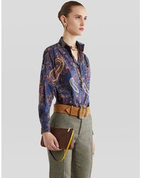 Etro - Paisley Mini Bag With Multicolored Details - Lyst