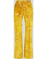 Etro Pantalon Sartorial Jacquard - Jaune