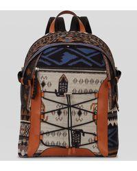 Etro Carpet Pattern Jacquard Backpack - Natural
